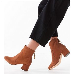 Harlow suede o-ring ankle boot - tan